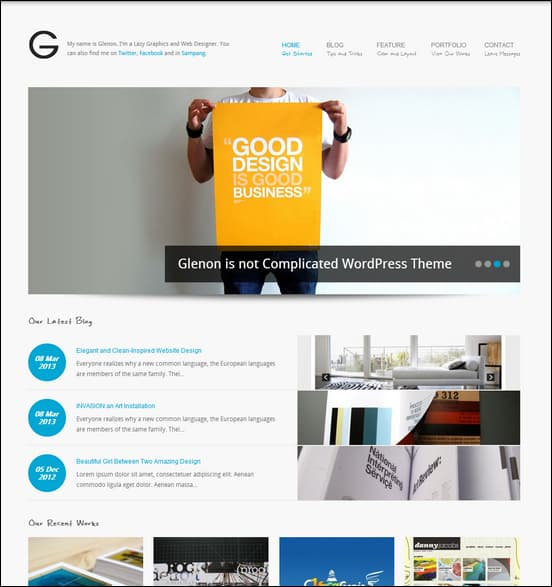 Glenon - Portfolio & Business WordPress Theme