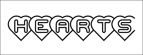 hearts-font-