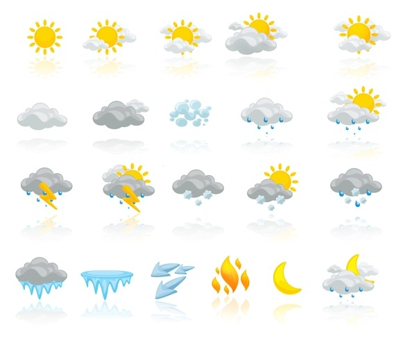 30+ Sets of High-Quality Weather Icons for Free   Tripwire ...  30+ Sets of Hig...