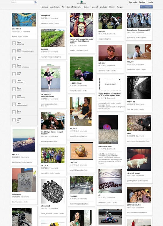 Pinpress Is A Premium Pinterest WordPress Theme That Renders The Exact Design Of Template Delivers Multi Column Layout