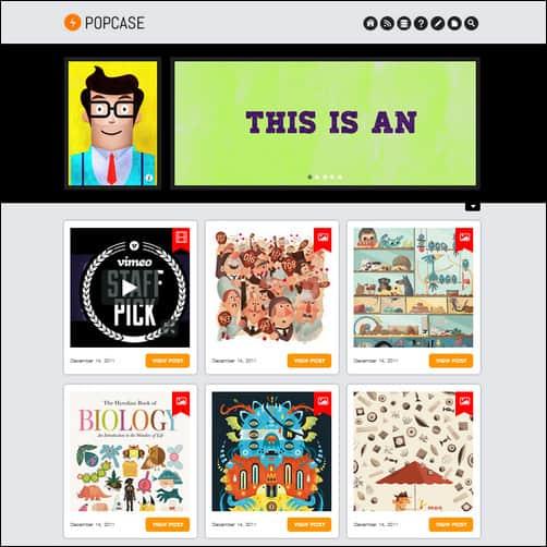 popcase tumblr theme