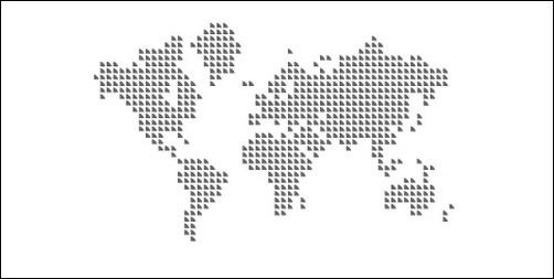 stylish 9 vector world map