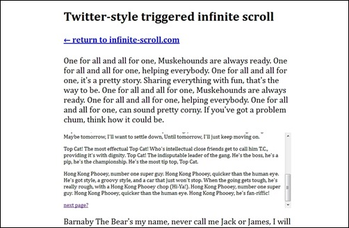twitter-style-trigerred-infinite-scroll