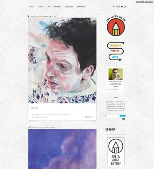 Eat Sleep Draw Creative Tumblr Blog Designs