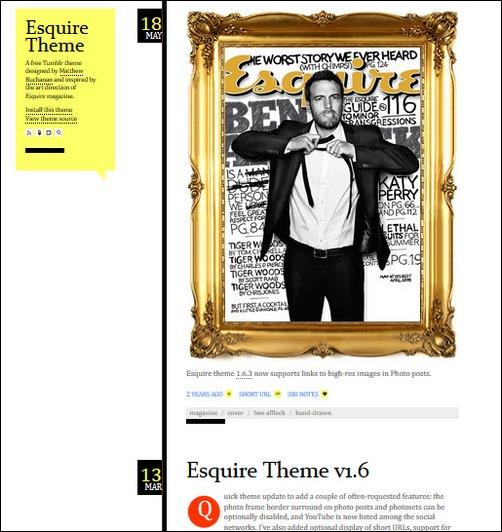 Esquire Creative Tumblr Blog Designs