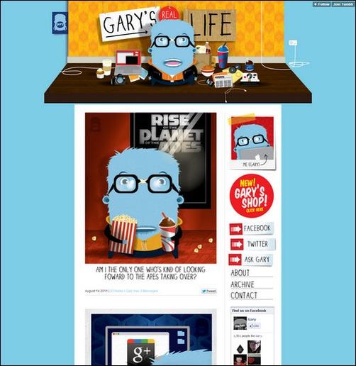 Gary's Real Life Creative Tumblr Blog Designs