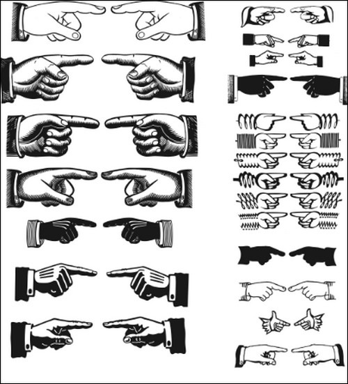 Pointing-Hands-Vectors-sets