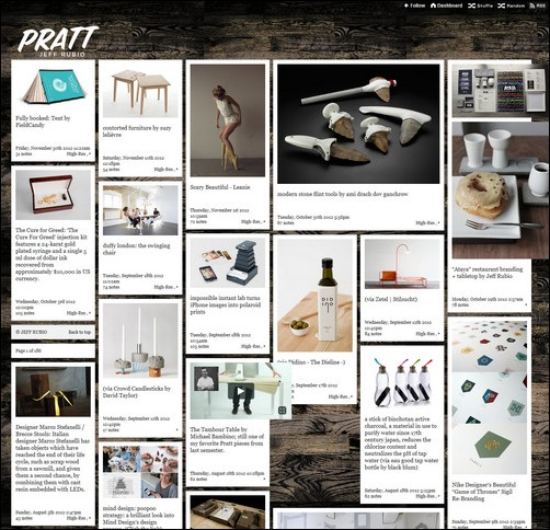Pratt Creative Tumblr Blog Designs