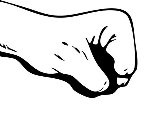 first-outline-lineart-clip-art-hand-vector