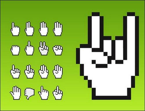 vector-cursor-hands-sets