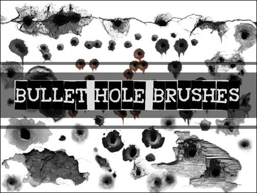 Smoking Hot Photoshop Bullet Hole Brushes | Tripwire Magazine