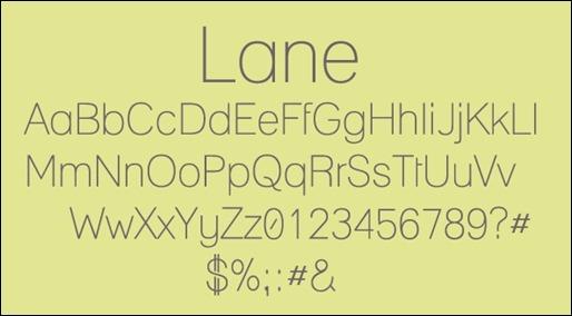 lane-