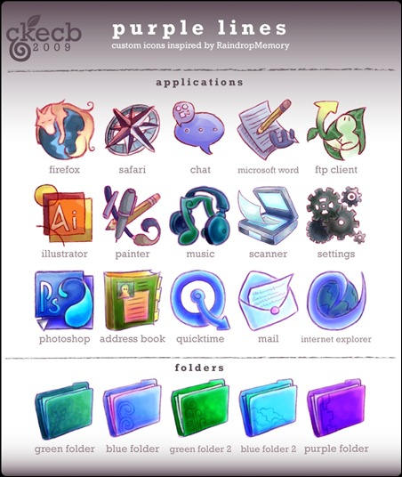purple-lines-icon-set-