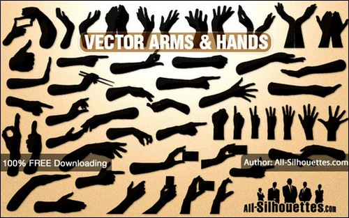 vector-hands-and-arms-sets
