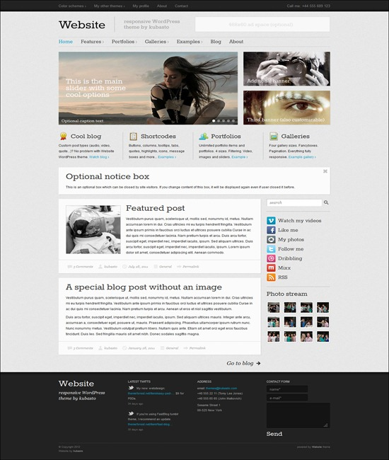 Website - responsive WordPress them