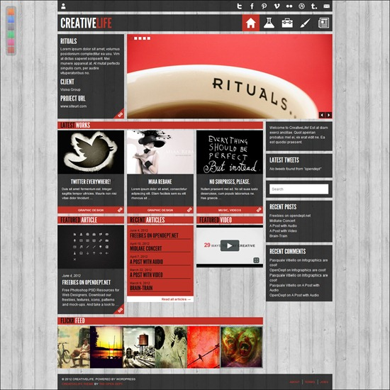 CreativeLife - WordPress T heme For Creatives