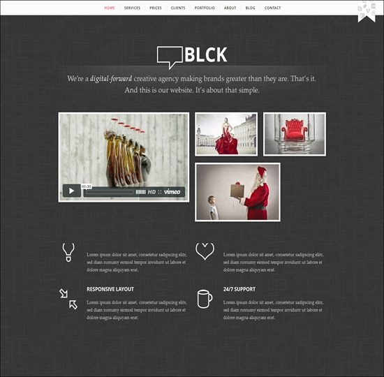 BL CK – Responsive HTML5 One-Page Theme