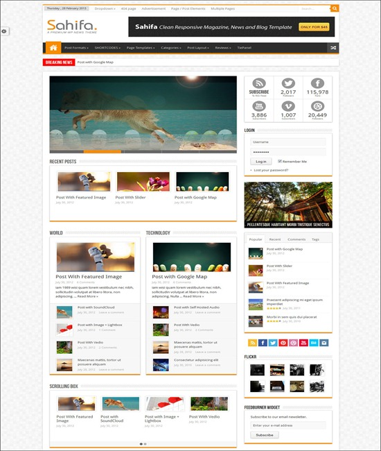 70 best html5 wordpress themes want a modern website tripwire sahifa responsive wordpress newsmagazineblog maxwellsz