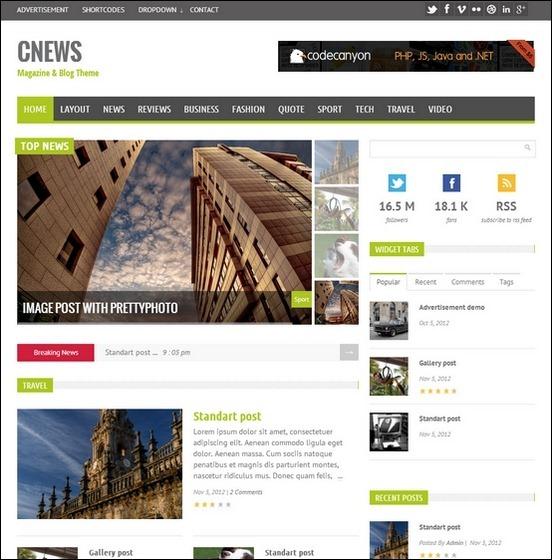 cnews blog theme thumb1 WordPress Haber ve Portal Temaları
