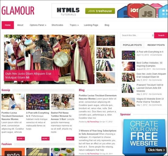 glamour thumb1 WordPress Haber ve Portal Temaları