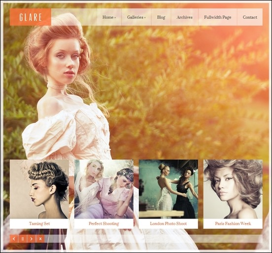Glare Photography / Portfolio Theme for WordPress