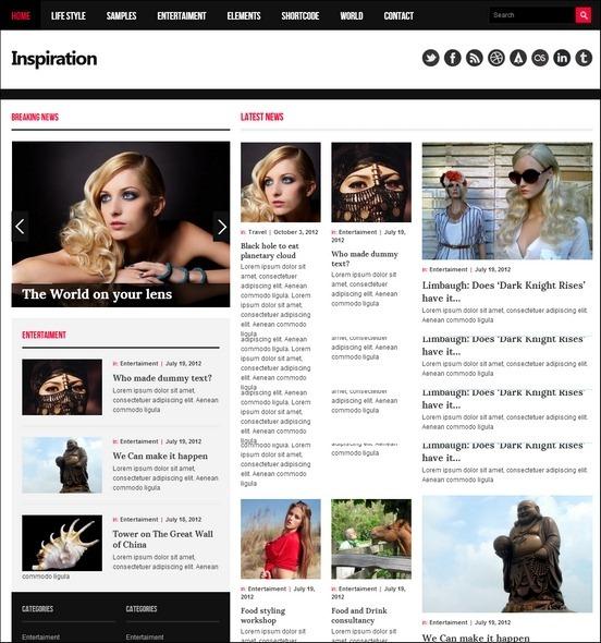 inspiration responsive theme thumb1 WordPress Haber ve Portal Temaları