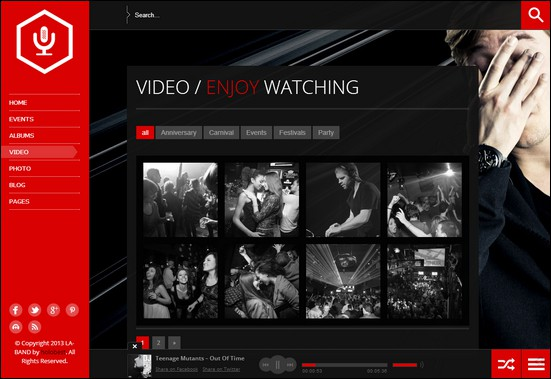 LA-BAND is a dark and clean video WordPress theme for bands and music lovers