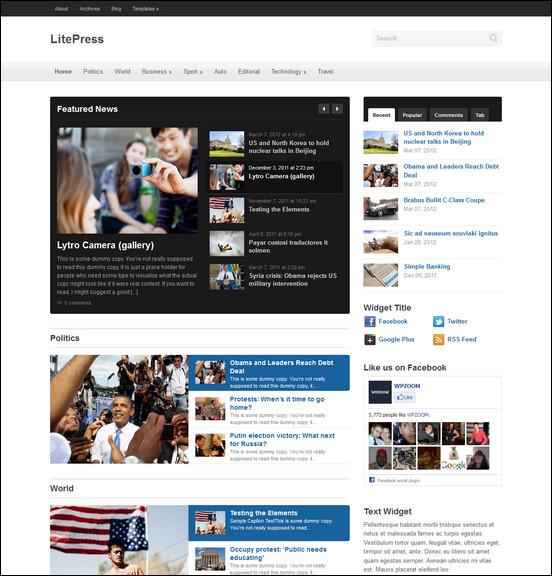 litepress WordPress Haber ve Portal Temaları