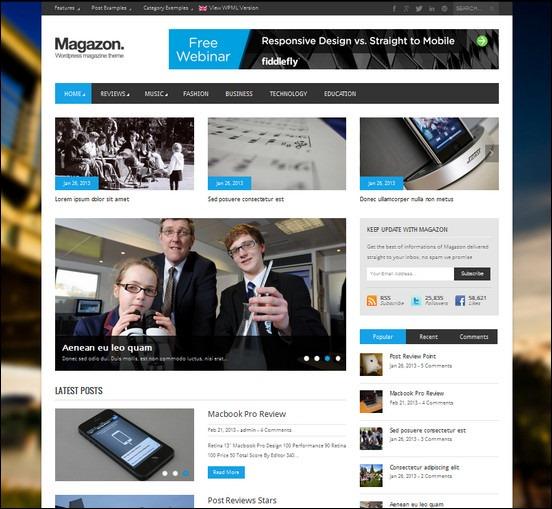 Magazon is an advanced responsive WordPress theme