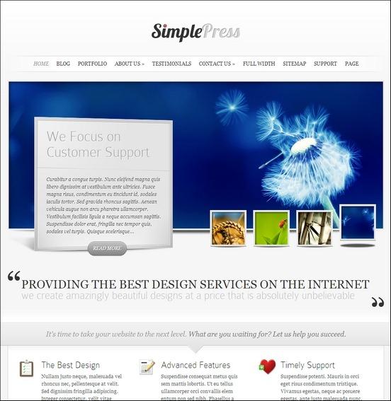 simplepress wp theme WordPress Haber ve Portal Temaları