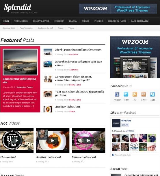 splendid1 WordPress Haber ve Portal Temaları