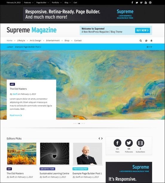 supreme retina wp theme thumb1 WordPress Haber ve Portal Temaları