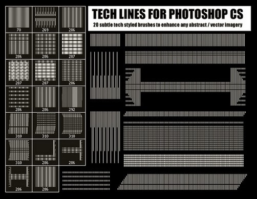 70+ Hottest Photoshop Line Brushes – Get Ready for 2017