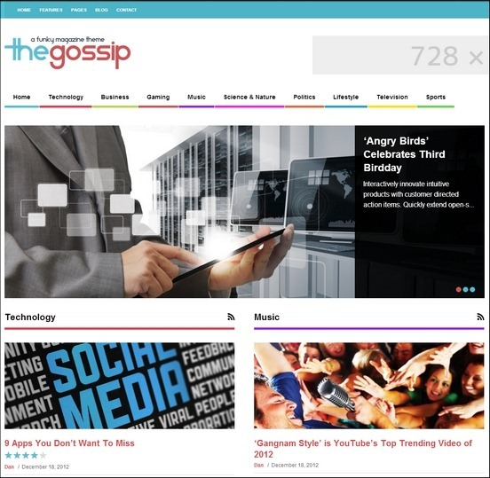 The Gossip: Newspaper Style WordPress Theme