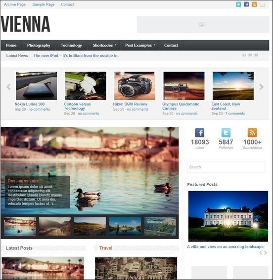 vienna wp theme thumb1 WordPress Haber ve Portal Temaları