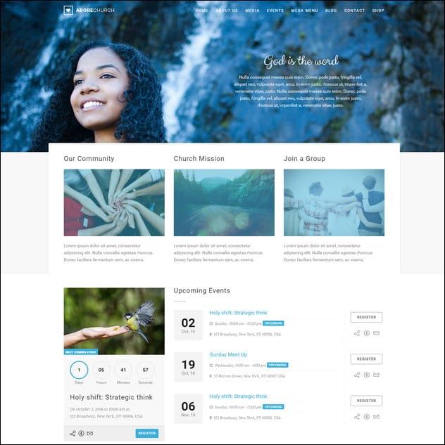 Adore Church - Responsive WordPress Theme