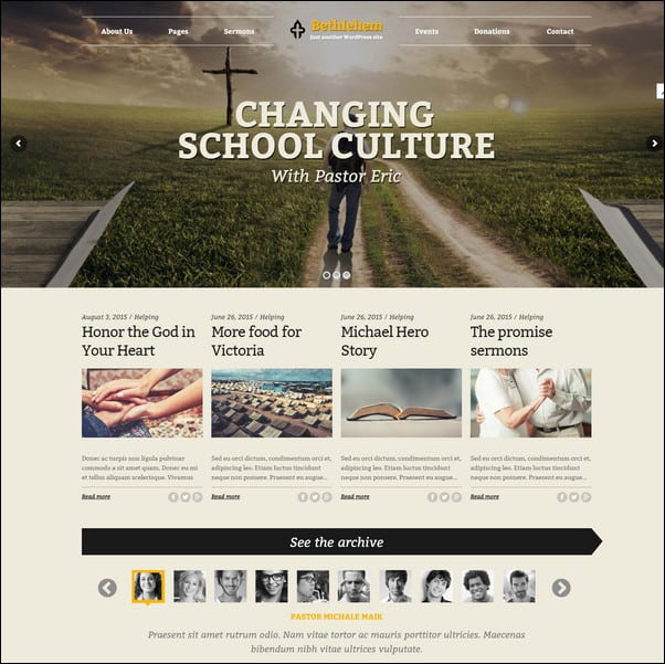 Bethlehem - Church WordPress Theme