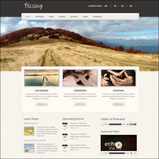 Blessing Premium Responsive WordPress Theme