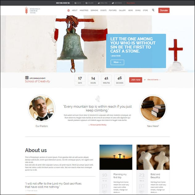 Church and Events - Theme for Churches and Events