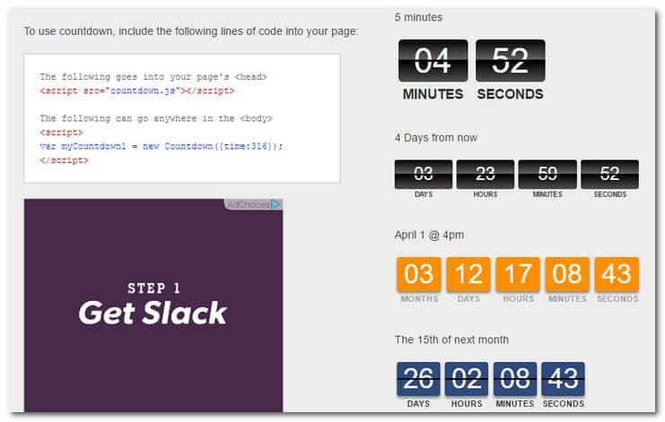 7 Awesome jQuery Countdown Scripts That Will Power Up Your