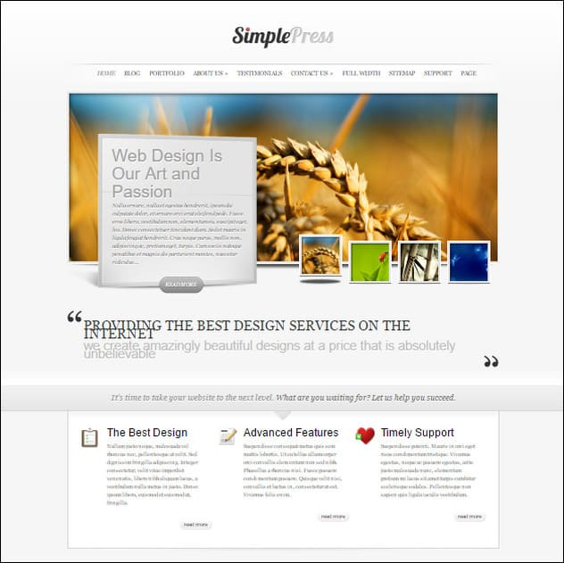 SimplePress Simple WordPress Theme