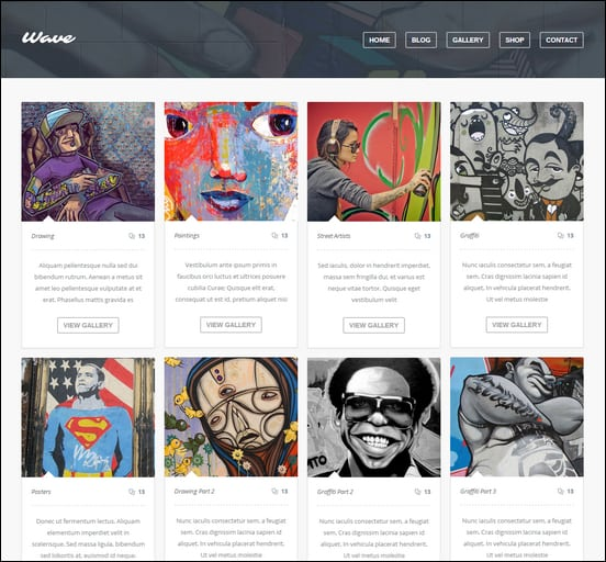 Wave Grid Style Theme for WordPress