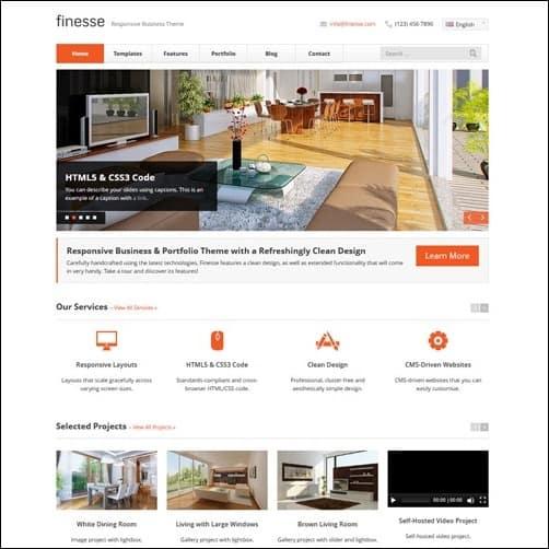 Finesse Business Website Template