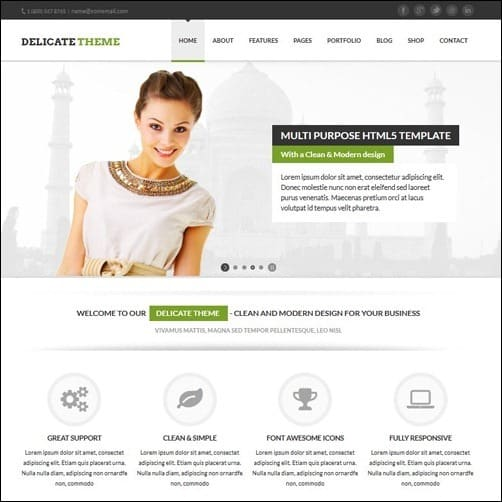 Delicate business website template