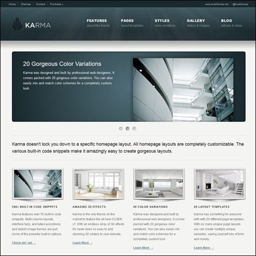 Karma business website template