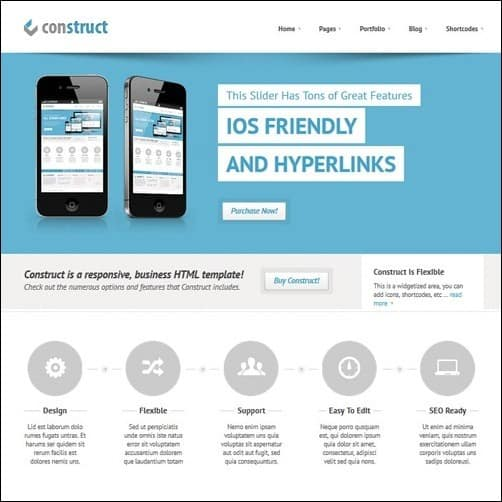 Construct business website template