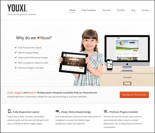 Youxi business website template