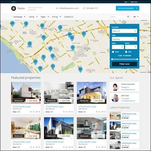 Realia business website template