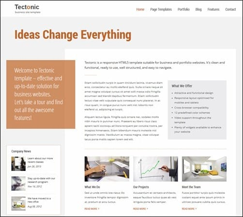 Tectonic business website template