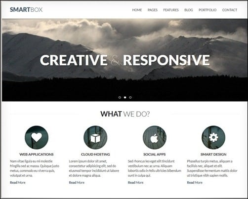 SmartBox business website template